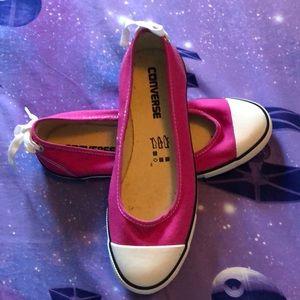 Converse hot pink ballet flat sneakers